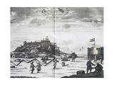 Nassau Fort on Goree Island, Senegal, Port of Call of Dutch West India Company Giclee Print by Pieter Van Der Aa