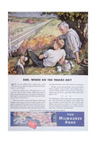 Advertisement for the Milwaukee Road Railway Featuring the 11000 Mile Supply Line Giclee Print