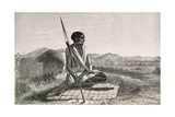 Saydumi, Native Ugandan, Engraving from Lake Regions of Equatorial Africa Giclee Print by Richard Francis Burton