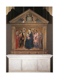 Madonna and Child with Saints and Christ in Pieta, 1461-63 Giclee Print by Sano di Pietro