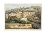 Pulteney Bridge, from 'Bath Illustrated by a Series of Views', Engraved by John Hill Giclee Print by John Claude Nattes