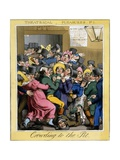 Crowding to the Pit, Plate 1 from Theatrical Pleasures, Pub. Thos. Mclean, London, 1821 Giclee Print by Theodore Lane