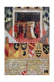 The Gift of the Ring, Wedding Scene Between Sienese Noble Families, 1473 Giclee Print by Sano di Pietro
