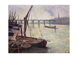 The Thames at Vauxhall Bridge; La Tamise a Londres, Le Pont Vauxhall, 1893 Giclee Print by Maximilien Luce