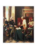 Signing of the Convention of Alexandria after the French Victory at the Battle of Marengo Giclee Print by Michel-martin Drolling