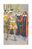 Louis XIV Visiting the French Parliament Giclee Print by Louis Bombled