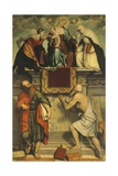 Enthroned Madonna with Child, St Catherine, St Paul and St Jerome, 1543 Giclee Print by Moretto Da Brescia