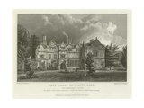 West Front of Spains Hall, Finchingfield, Essex, the Seat of John Ruggles Brice, Esquire Giclee Print by William Henry Bartlett