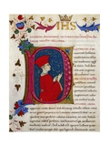 Initial Letter P Depicting Plutarch Giclee Print by Pietro Candido Decembrio