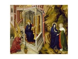 Annunciation and Visitation, Left Panel of Champmol Altarpiece, 1393-1399 Giclee Print by Melchior Broederlam