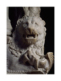 Lion Figure, Detail of Tomb of Catherine of Austria, 1323 Ca Giclée-Druck von Tino da Camaino