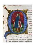 Initial Letter Q Representing the Quinto Sertorius Giclee Print by Pietro Candido Decembrio