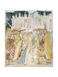 The Arrival of St Ursula in Rome, Detail from the Fresco Legend of St Ursula, 1360-1366 Giclee Print by Tommaso Da Modena