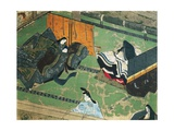Prince Genji Visiting His Wife, Illustration for Tale of Genji, Japanese Novel Giclee Print by Murasaki Shikibu