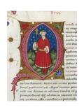 Initial Letter Q Depicting Titus Quinctius Flamininus Giclee Print by Pietro Candido Decembrio