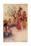 Damatanti Choosing a Husband Giclee Print by Warwick Goble