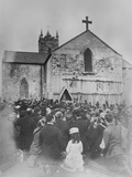 An Open Air Mass at the Shrine of Our Lady at Knock Photographic Print