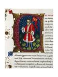 Initial Letter C Depicting Gaius Marius Giclee Print by Pietro Candido Decembrio