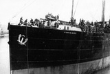Wwi Troopship the Rowan More in the Harbour at Boulogne About to Disembark Troops Photographic Print