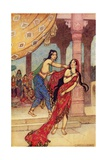 The Ordeal of Queen Draupadi Giclee Print by Warwick Goble