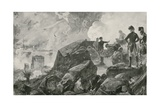 "The Destruction of the Spanish ""Battering Ships"" by the British at Gibraltar Giclee Print by William Heysham Overend"