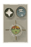 Native American Shields - Shield with Star Symbol Giclee Print