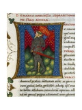 Initial Letter M Depicting Marcus Claudius Marcellus Giclee Print by Pietro Candido Decembrio