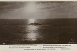 Seascape and Excerpt from it Is a Beauteous Evening Photographic Print by William Wordsworth