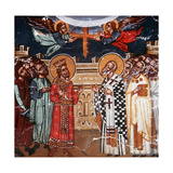 Exaltation of the Holy Cross, Emperor Heraclius and Patriarch Zacharias, 1494 Giclee Print by Philippos Goul