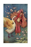 Damayanti and the Swan Giclee Print by Warwick Goble