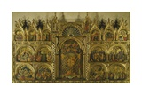 Polyptych of the Coronation of the Virgin Mary, Stories of Jesus and Stories of St Francis Giclée-tryk af Paolo Veneziano
