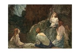 Where the Rude Axe, with Heaved Stroke, Was Never Heard the Nymphs to Daunt Giclee Print by Robert Anning Bell