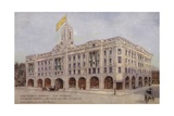 Debenham and Freebody's New Premises, Wigmore Street, Cavendish Square, London, West Giclee Print by Mortimer Ludington Menpes