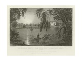 Gosfield Hall, from the Weathersfield Road, Essex, the Seat of E G Barnard, Esquire Giclee Print by William Henry Bartlett