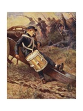 """He Crawled Behind a Cannon and Pale and Paler Grew"" Giclee Print by William Henry Charles Groome"