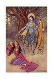 Rama Spurns the Demon Lover Giclee Print by Warwick Goble