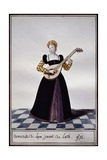 Young Woman from Lyon Playing Lute at Time of Charles IX, 1572 Giclee Print by Pierre de La Mesangere