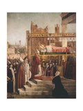 Stories of St. Ursula, Martyrdom of Pilgrims and Funeral of St. Ursula, 1493 Giclee Print by Vittore Carpaccio