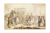 Napoleon's Coach Being Viewed by Fashionable London Giclee Print by Thomas Rowlandson
