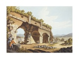 European Travellers in Front of the Temple of Diana in Ephesus, 1805 Giclee Print by Luigi Mayer
