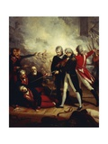 Horatio Nelson Receiving the Surrender of the Captain of the San Nicolas Giclee Print by Richard Westall