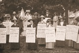 The Suffragettes of Ealing Publicise a Public Demonstration to Be Held on Ealing Common on 1st June Photographic Print by  English Photographer
