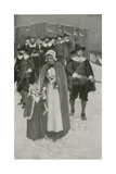 Sabbath-Day with the Pilgrim Fathers at their First Settlement in New Plymouth Giclee Print by William Henry Margetson