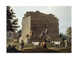 Monument Between Tripoli and Tortosa, 1803, Engraving Taken from Views of Syria Giclee Print by Luigi Mayer