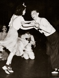 A Young Couple Dancing 'The Big Apple' Photographic Print
