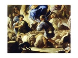 Sheep and Shepherds, Detail from Rebecca's Departure for Canaan Giclee Print by Luca Giordano