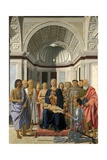 Brera Altarpiece or Madonna and Child with Saints Praying with Federico Da Montefeltro, 1472 Giclee Print by  Piero della Francesca