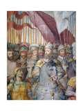 Detail of Troops of Cardinal Alessandro Farnese and of Charles V Leaving for War Against Lutherans Giclee Print