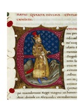 Initial Letter E Depicting Eumenes of Cardia Giclee Print by Pietro Candido Decembrio
