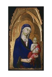 The Madonna and Child, Detail from Altarpiece of St Dominic Giclee Print by Simone Martini